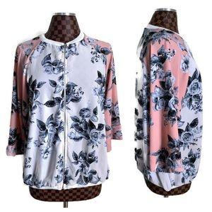SJS Floral Kimono Bomber Jacket XL